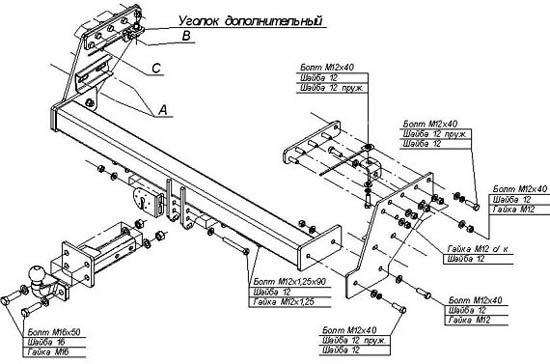 инструкция фаркопа босал на митцубиси л200